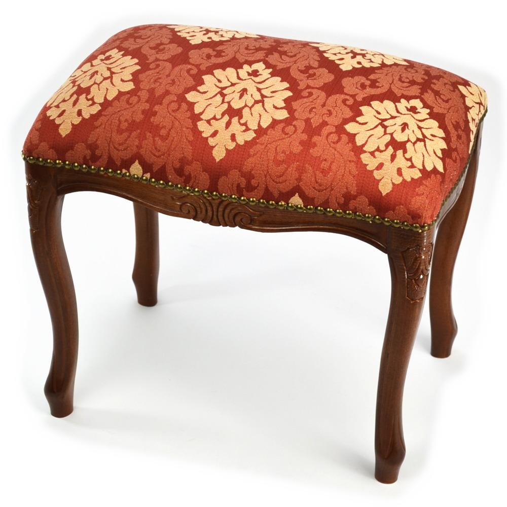 意大利制造凳子红&黄金花纹(木制棕色小凳子椅子椅子椅子椅子脚放