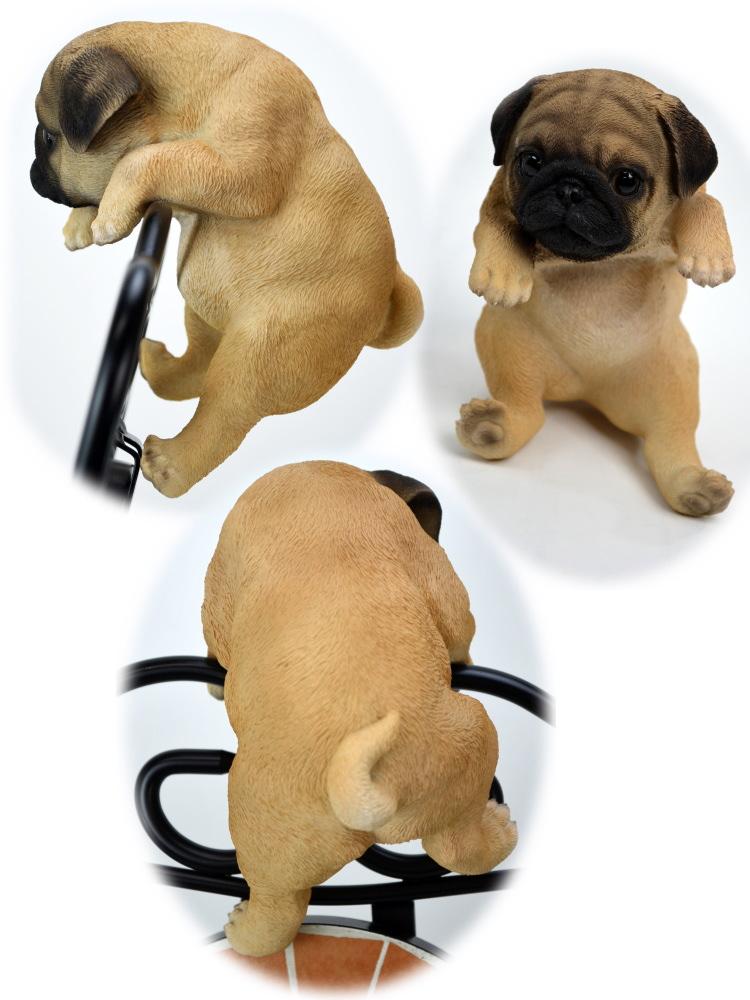 挂狗哈巴狗狗挂 (园艺雕像雕塑狗小狗动物动物院子里的狗的狗配件进口