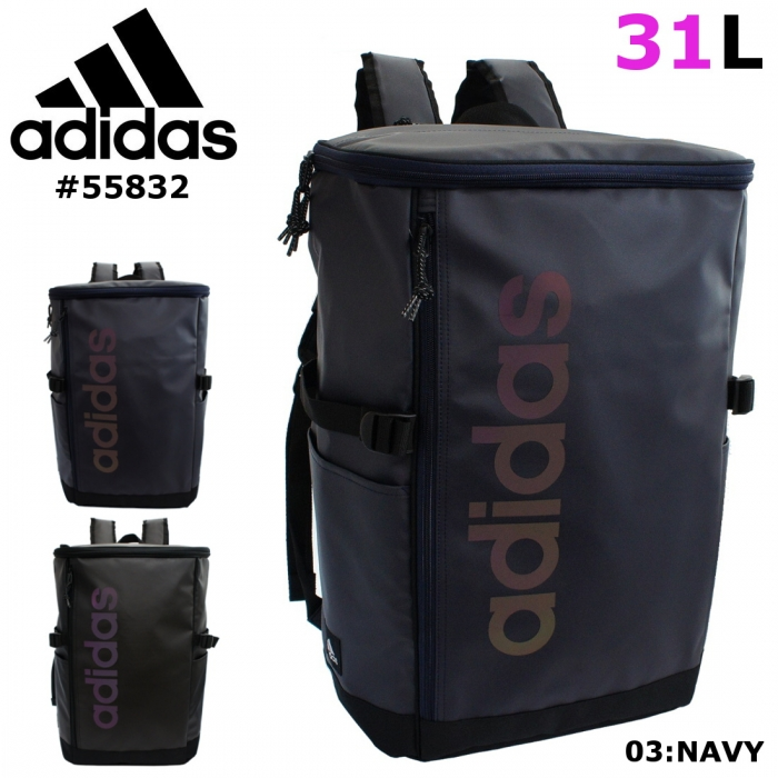 cc126eede3f6 ... 通学大容量女子男子防水31Lアディダス 商品詳細商品説明adidas(アディダス)のボックス型リュック。  ロゴ部分は角度によって見え方が変わる反射プリントを用いた ...