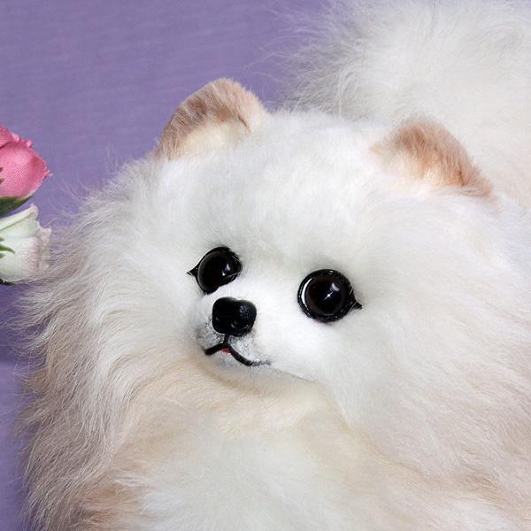 超大毛绒的动物玩具 / 博美犬 / 狗 / 博美犬塞 / 毛皮真正的毛绒真正