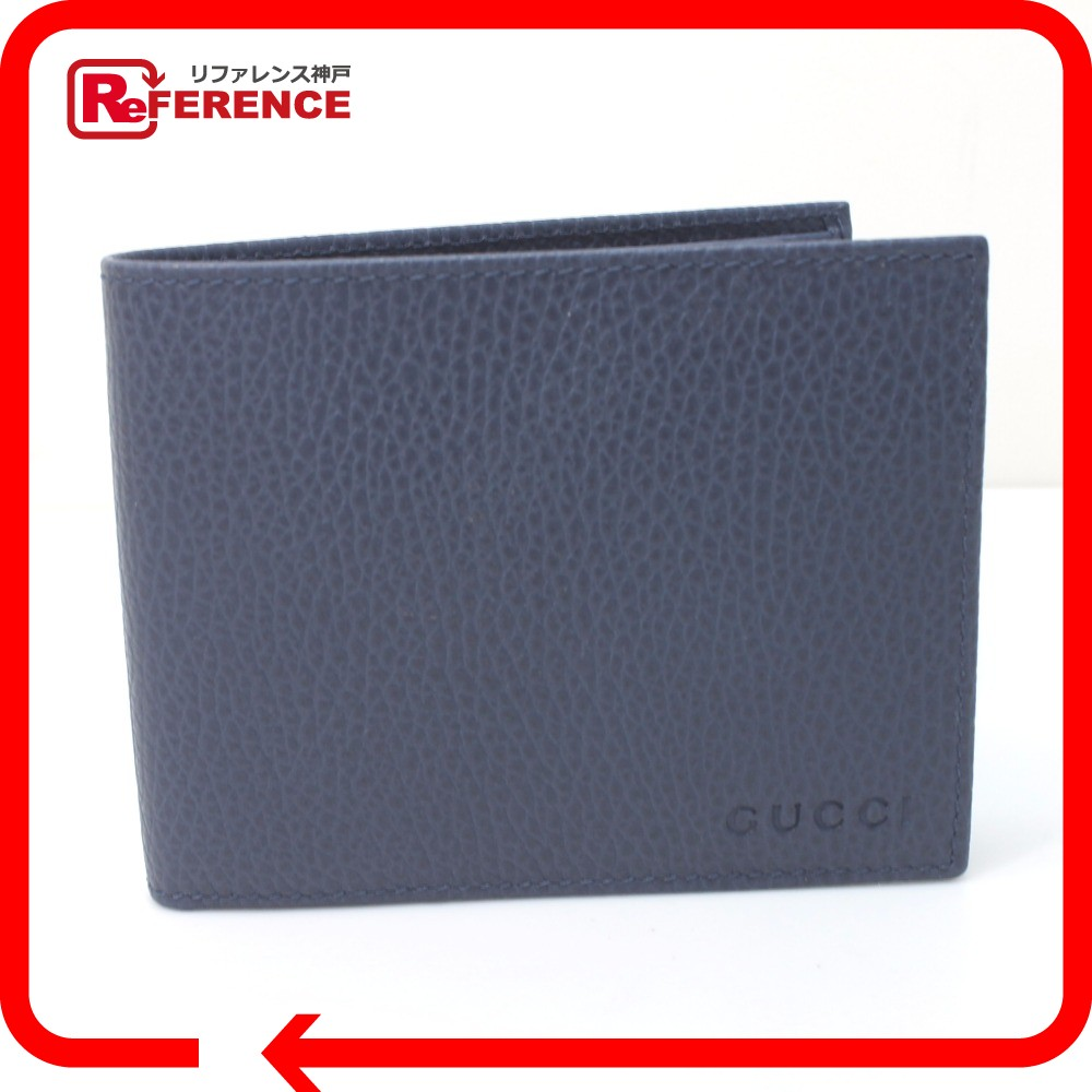31802b547df6 ... 販売 | レア物 | 新品 | GUCCI グッチ 217041 パスケース付 | 二つ折り札入れ 二つ折り財布(小銭入れなし) カーフレザー  | / ブルー系 レディース 未使用