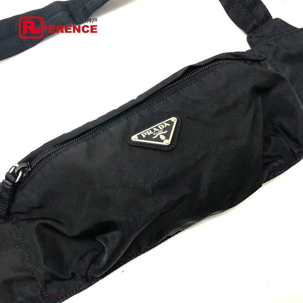 07f6df16c201 ... 販売 | レア物 | 新品 | PRADA プラダ ベルトバッグ | ウエストバッグ | ヒップバッグ ポーチ ロゴプレート ボディバッグ  ナイロン | / ブラック レディース