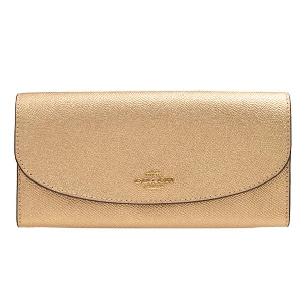 29ed59c6771d シンプルなメタリックレザーの長財布。使い勝手、背面のポケットはマルチに活用できます。収納ポケットも豊富にあり、カード類が多い方でも安心してお使いいただける  ...