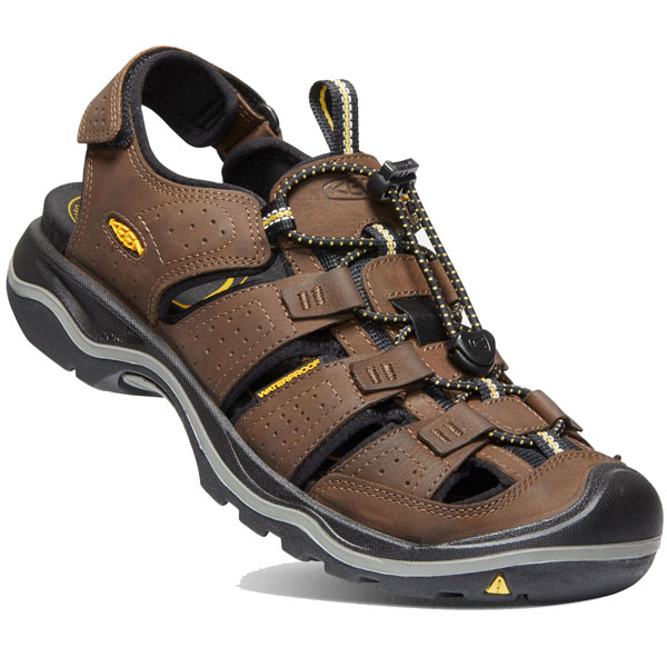 Keen Rialto II Sandals Men Bison/Black 2019 Sandalen braun Outdoor Bekleidung
