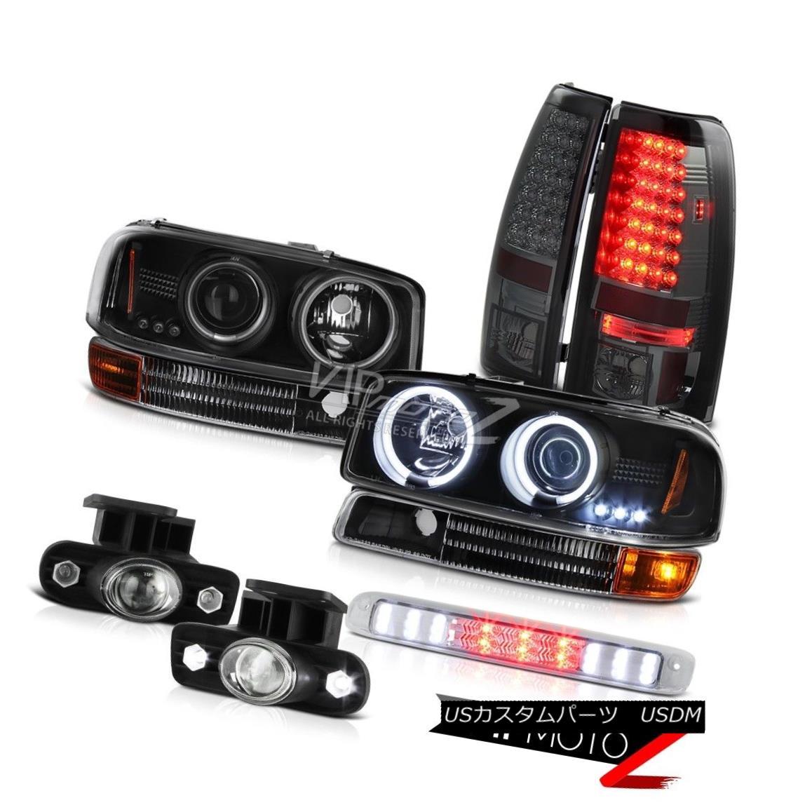 FOR F150 F250 F350 STYLESIDE SUPERDUTY RED//SMOKE LENS LED REAR BRAKE TAIL LIGHTS