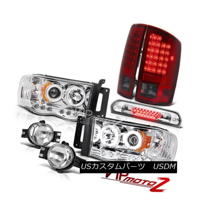 2006-2008 DODGE RAM PICKUP TRUCK HALO LED SMOKE PROJECTOR HEADLIGHT LAMP+10K HID