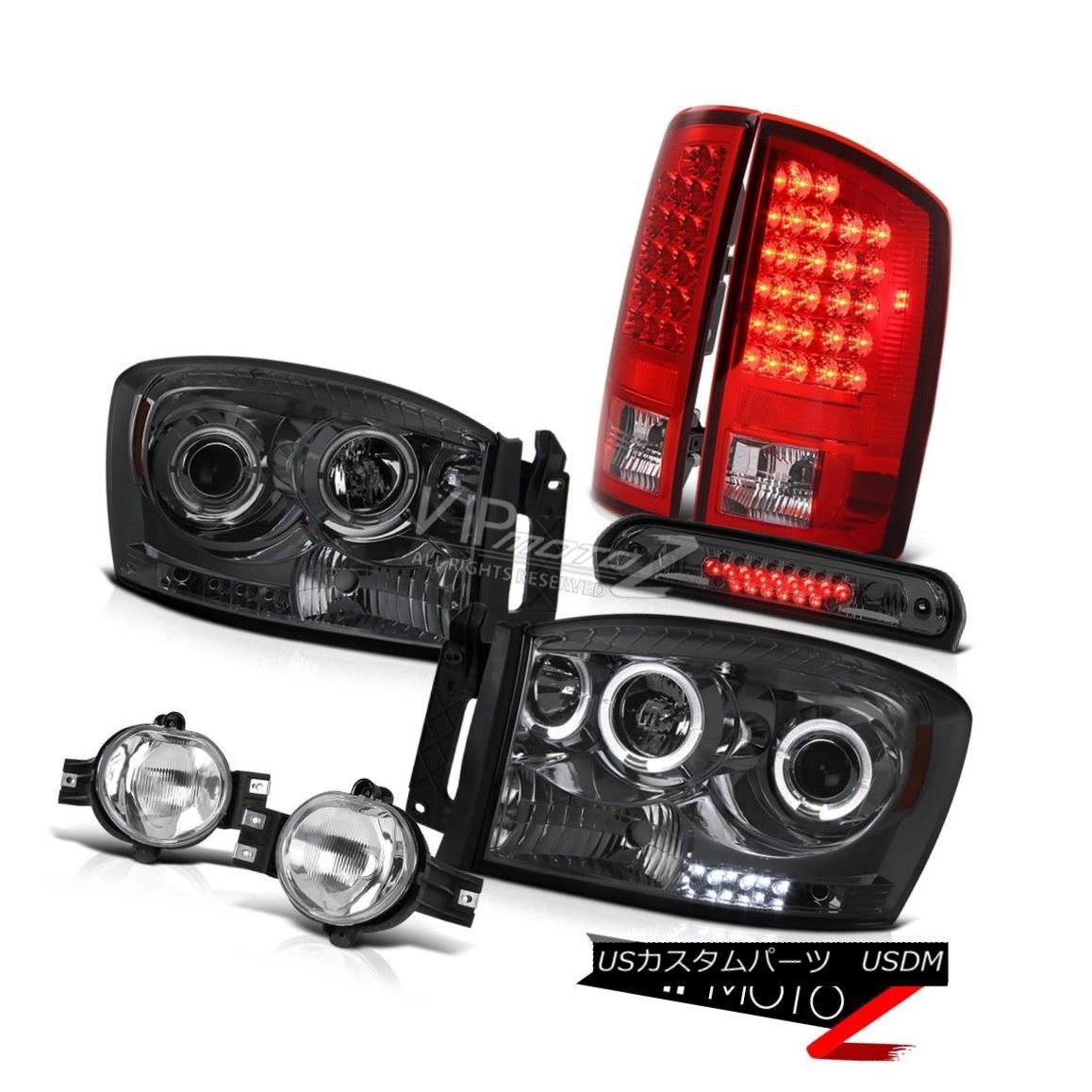 Set of Euro Clear Halo Headlights w// Park Signal Light for 2001-2006 GMC Denali