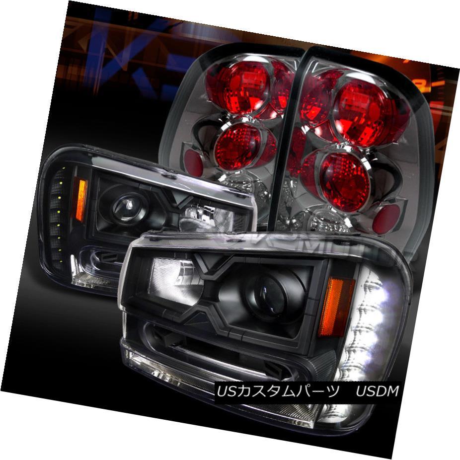 AMBER CORNER CHROME PROJECTOR BUMPER HEADLIGHT W//LED DRL FOR 02-09 TRAILBLAZER
