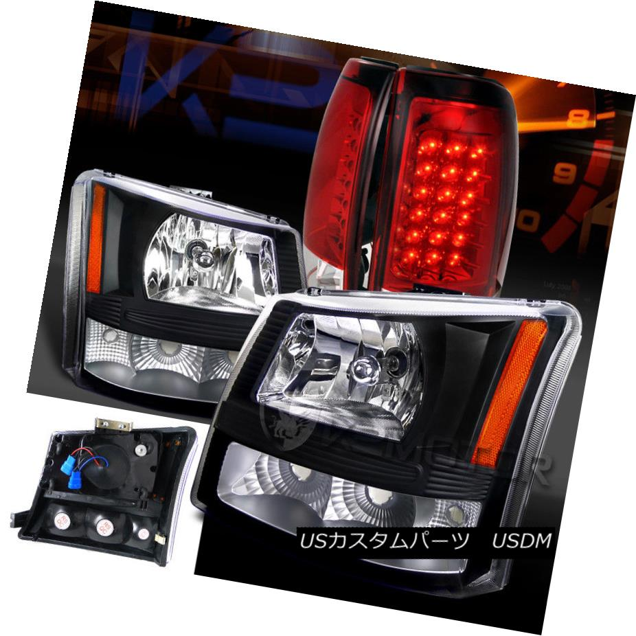 For 04-15 Titan Black Halo Projector Headlights+LED Tail Lamps+3rd Brake Light