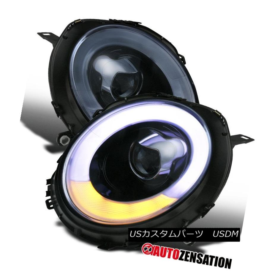 07-12 Mini Cooper Chrome Clear Halo Rim Projector Headlights