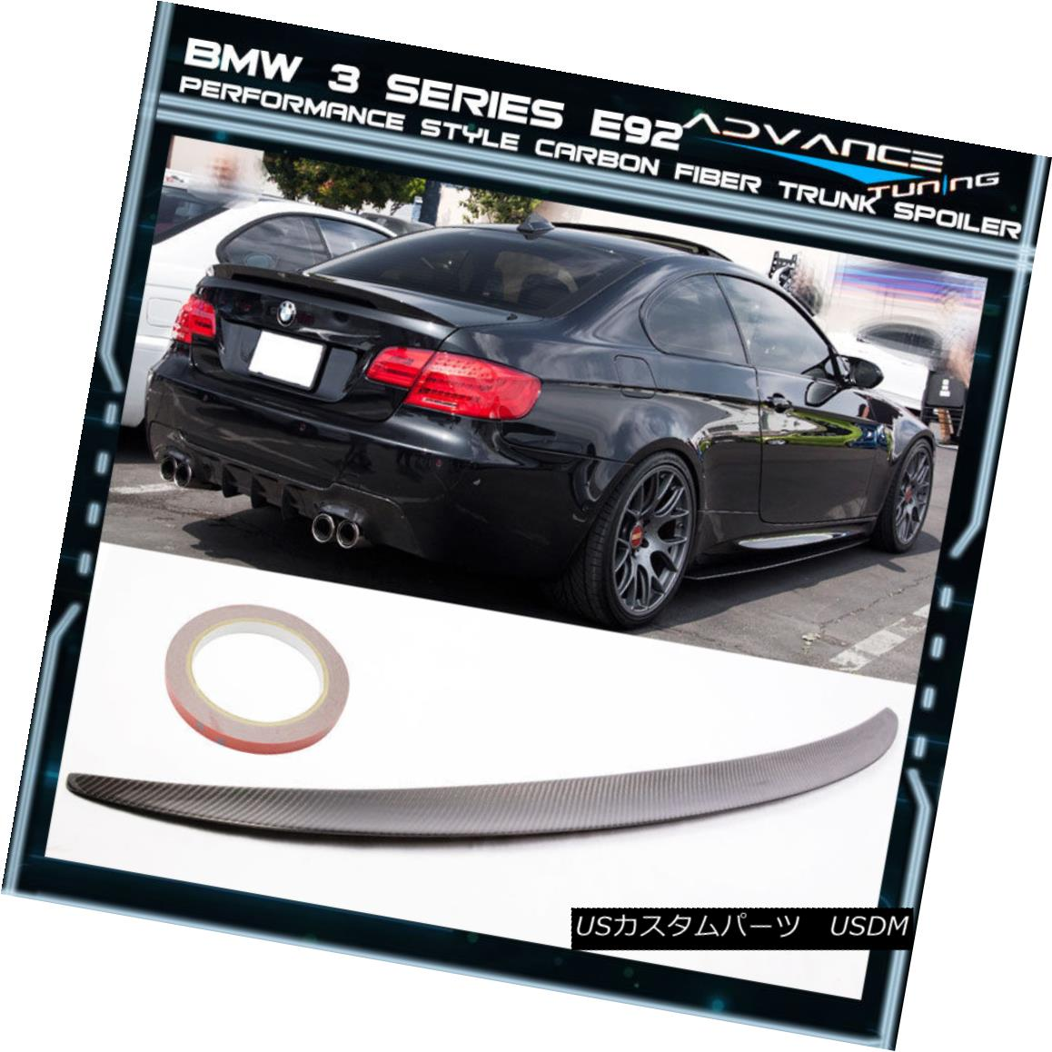 Carbon Fiber Rear Trunk Spoiler for 07-13 BMW E93 3 Series M3 Convertible Type A