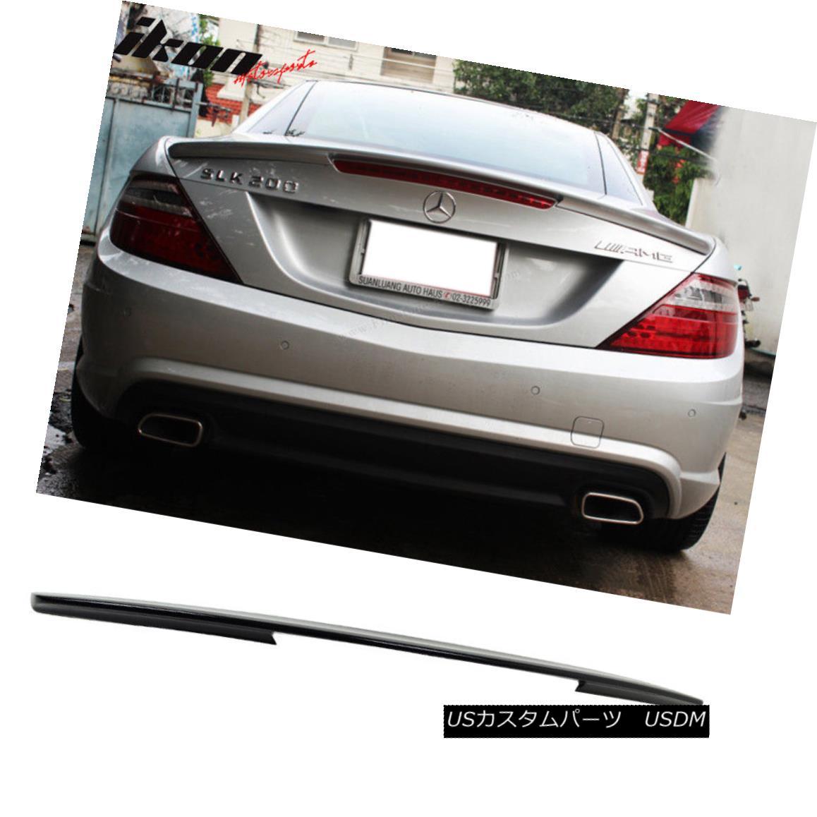 Painted M-BENZ 12~16 R172 SLK AMG type trunk spoiler color:197 Black ◎