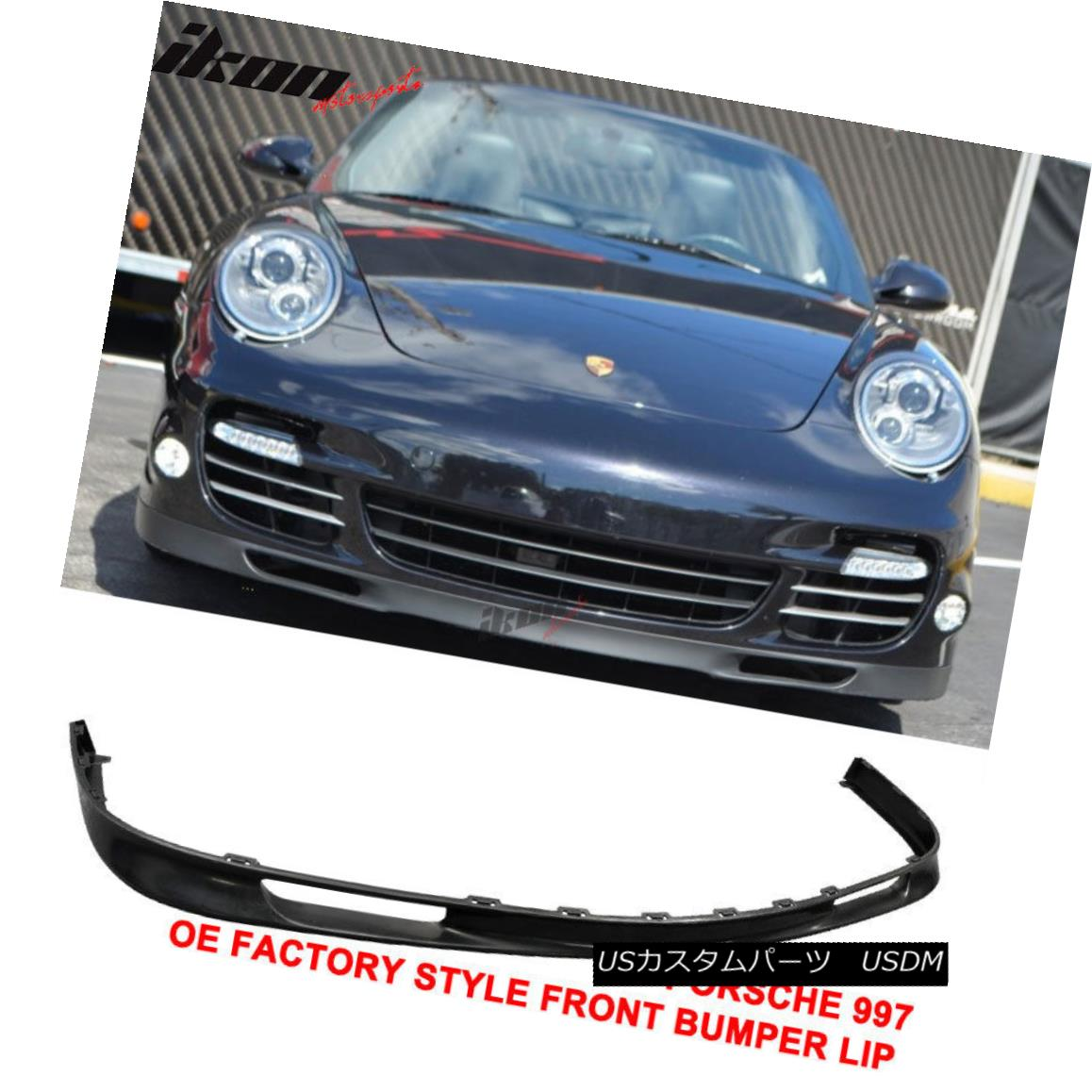 Fits 06-12 Porsche 997 OE Factory Style Front Bumper Lip Unpainted Urethane PU