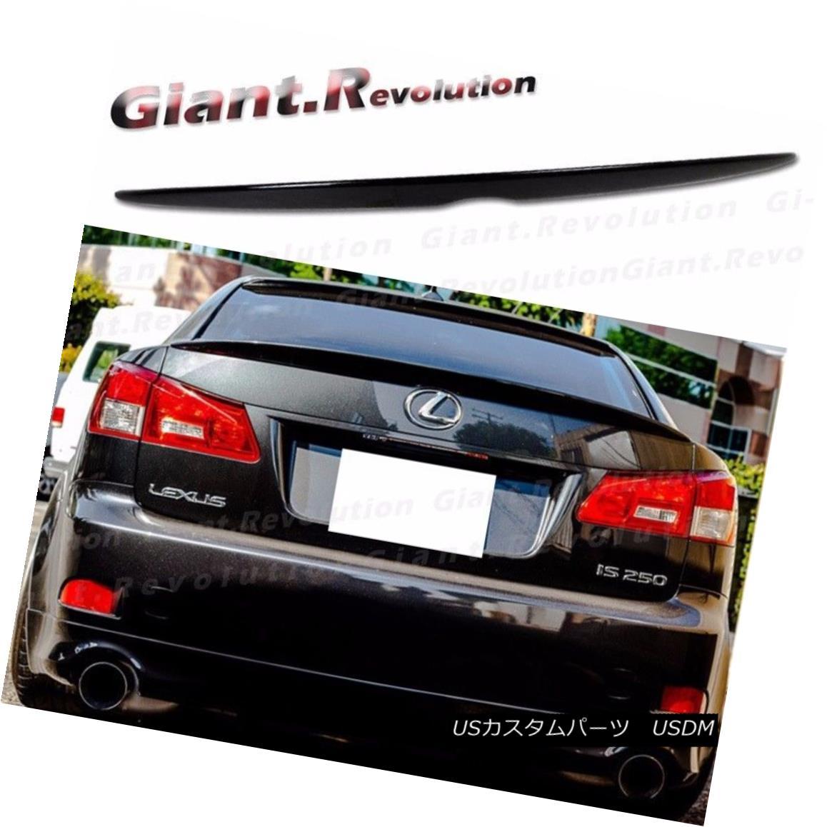Painted For Lexus IS250 IS350 IS F Sport Type Rear Trunk Spoiler 4D Saloon 15
