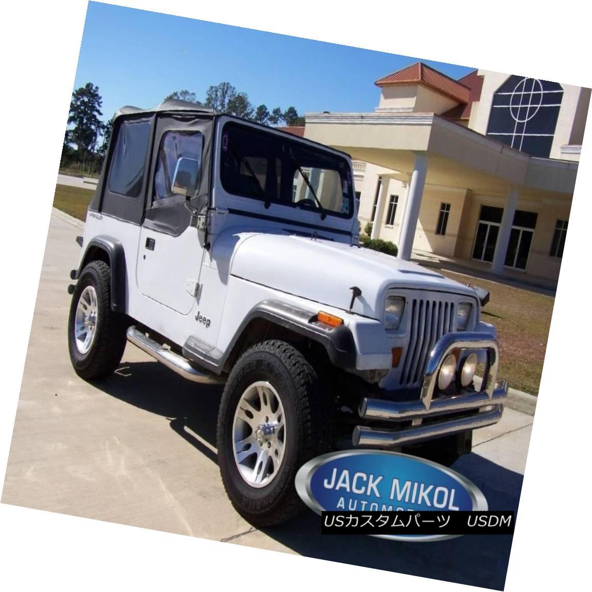 88-95 Jeep Wrangler Black Soft Top Upper Skins