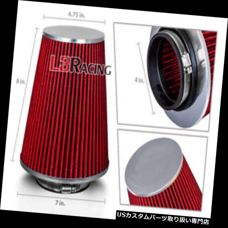 """RED 4 Inches 4/"""" Inlet 102mm Cold Air Intake Cone TRUCK FILTER For BMW"""