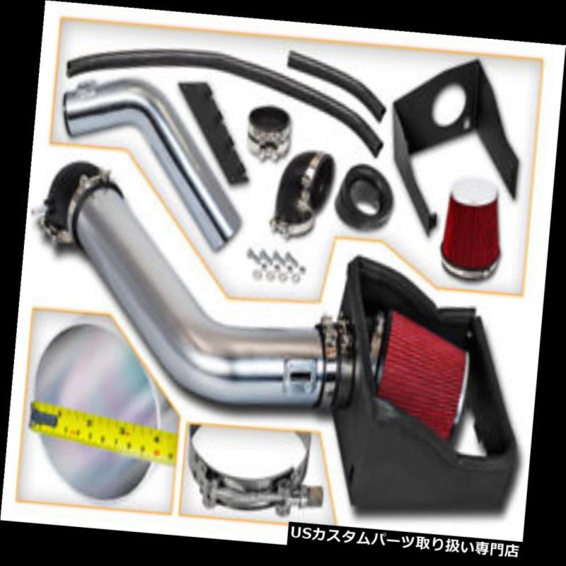 """4/"""" RED Heat Shield Cold Air Intake Induction Kit Filter For 09-10 F150 5.4L V8"""