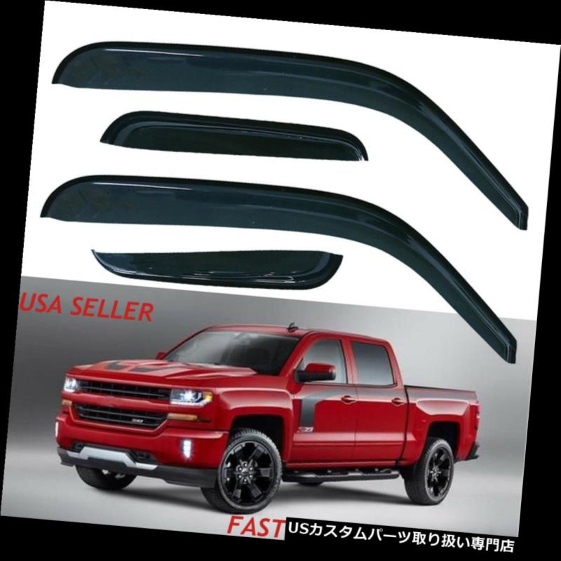 Vent Shade Window Visors For 99-06 Silverado//Sierra 07 Classic Extended Cab
