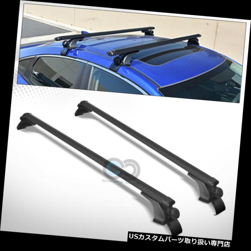 "50/"" Oval Black Aluminum Roof Rack Cross Bars Carrier Window Frame Adjustable S4"