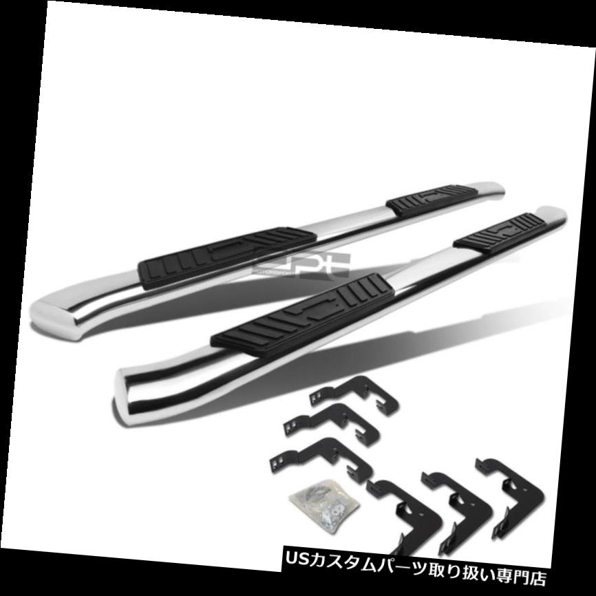 "FOR 01-16 CHEVY SILVERADO CREW 5/""CHROME CURVED OVAL STEP NERF BAR RUNNING BOARD"