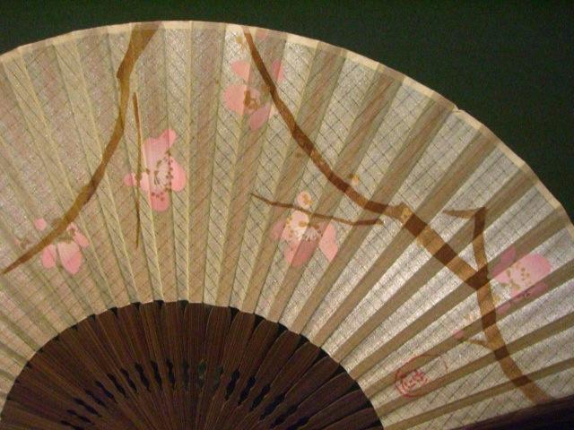 古代日本梅花海鲜 / 丝绸染色织物 / 7 katazome 画梅花 / 女粉丝的