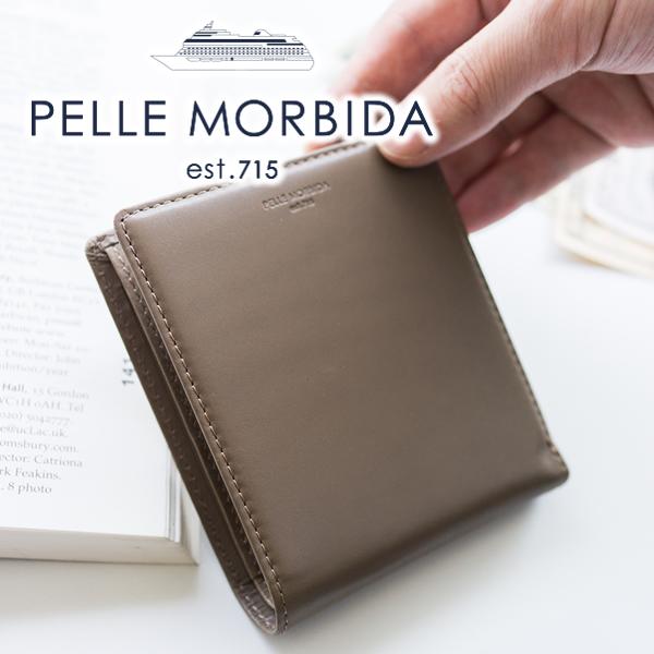 0a62cea7ee1c PELLE MORBIDA(ペッレ モルビダ) Barca バルカ カーフレザー小銭入れ付き 二つ折り財布 PMO-BA204  風雅なライフスタイルを彷彿させる、