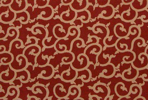 日本面料日本日本传统寻友擦阿拉伯式花纹红色