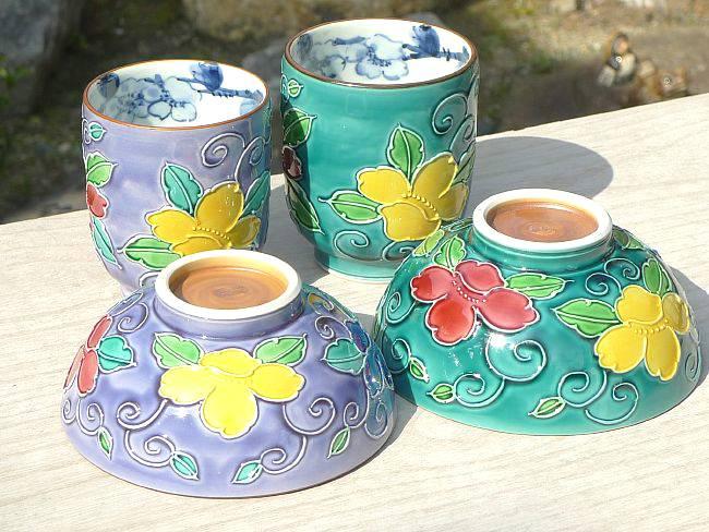 清水洁具樱桃花纹几杯和茶杯套