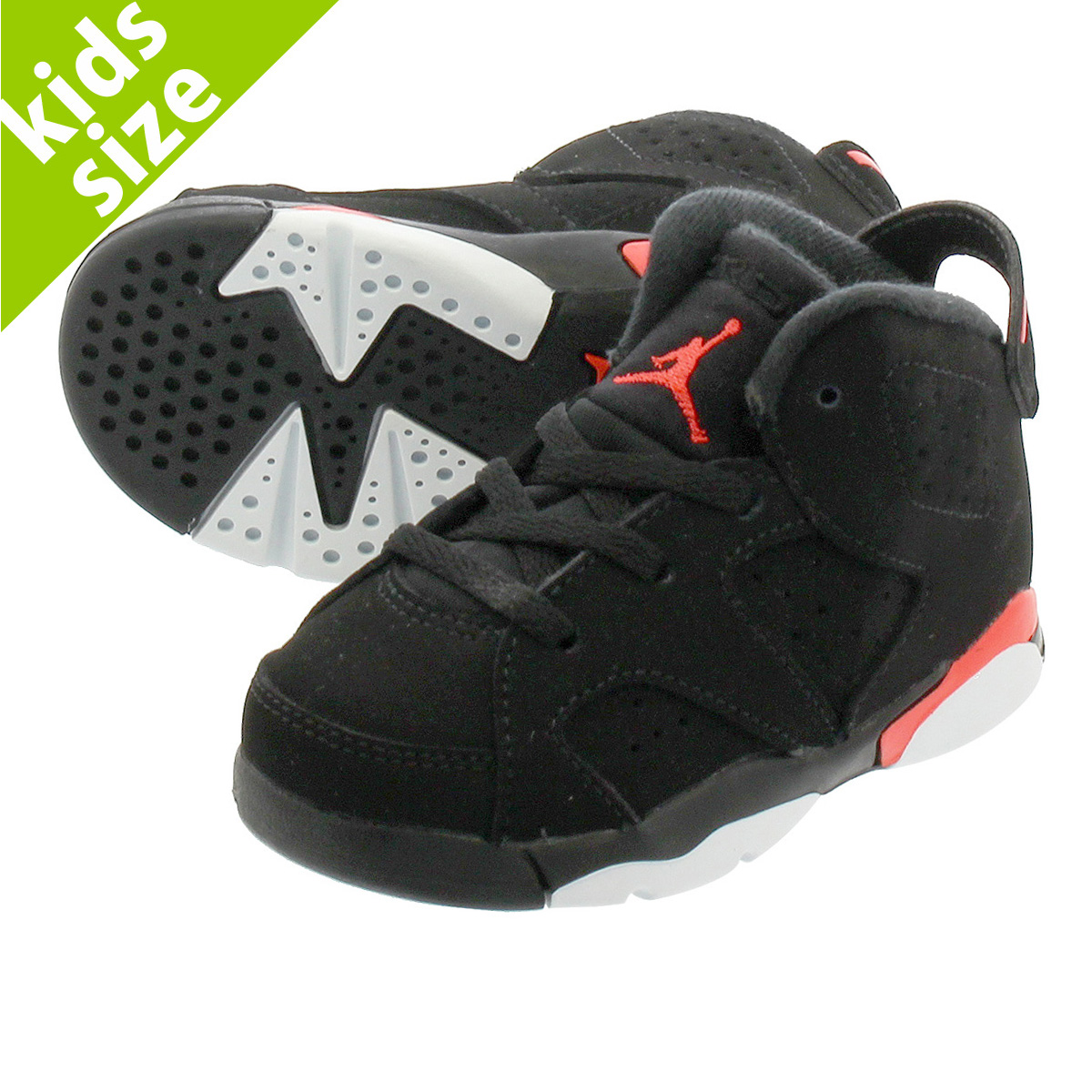 e40c30a6db9d  ベビーサイズ  8cm-16cm  NIKE AIR JORDAN 6 RETRO BT  BLACK INFRARED  ナイキ エア ジョーダン  6 レトロ BT BLACK INFRARED 384667-060  即日発送  NIKE ...