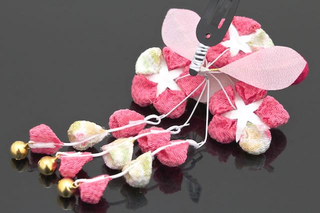 装饰品拇指制作黄金的粉红色的梅花樱花女孩歌舞伎町七 3 岁睡觉