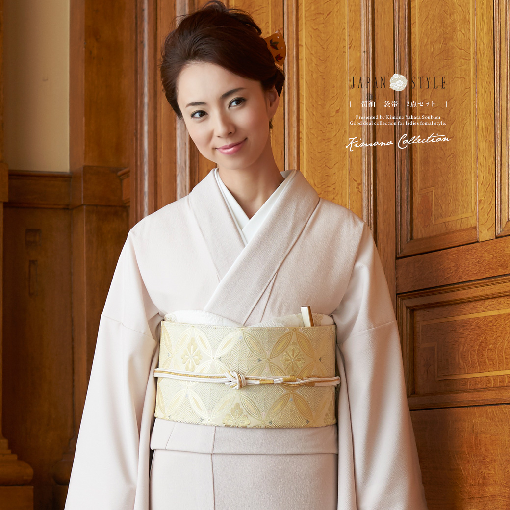 日本袖�y�>x�_含留袖子2分安排japan style粉红桃色金牡丹梅花流水袷色留袖日本风格