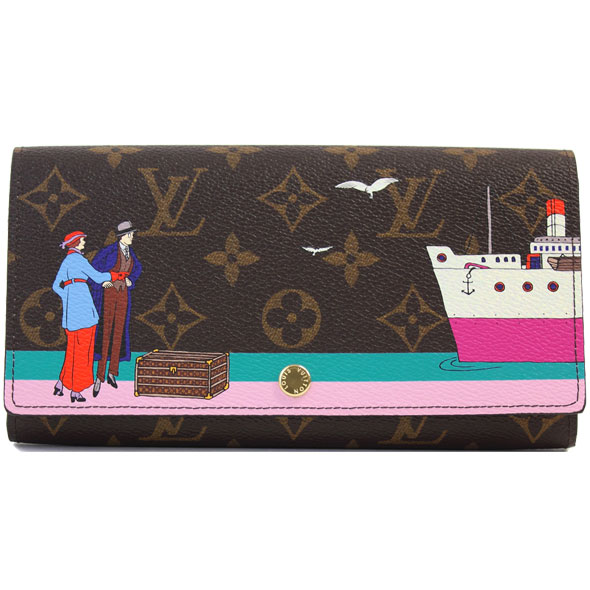 """a75b56b8a04d カラフルで個性的なルイヴィトンの長財布""""ポルトフォイユ?サラ""""です。  不動の人気、モノグラム柄に大西洋クルーズの全盛期を想起させる大胆なマルチカラープリントが ..."""