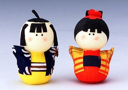 手工制作民俗艺术日本传统的纸娃娃了集法援署集日本制造的是男女双方