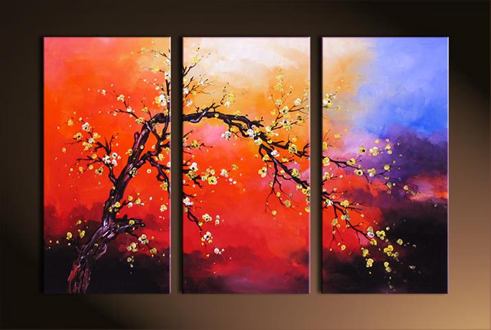 油画尺寸油画抽象油画花卉 / 日本模式 / 风景绘画挂在时尚礼品: 东京
