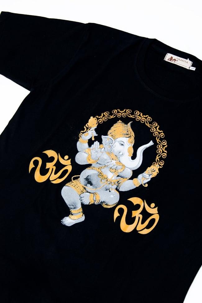 印度小卹�*���9�b��_甘尼萨 t 恤印度教神印度泰国民族 t 恤大象跳舞