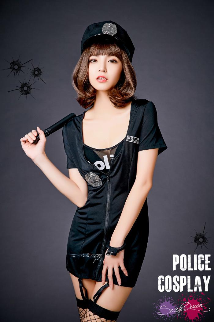 万圣节 cosplay 服装警察 cospressexy 均匀迷你裙缔约方会议警察帽子