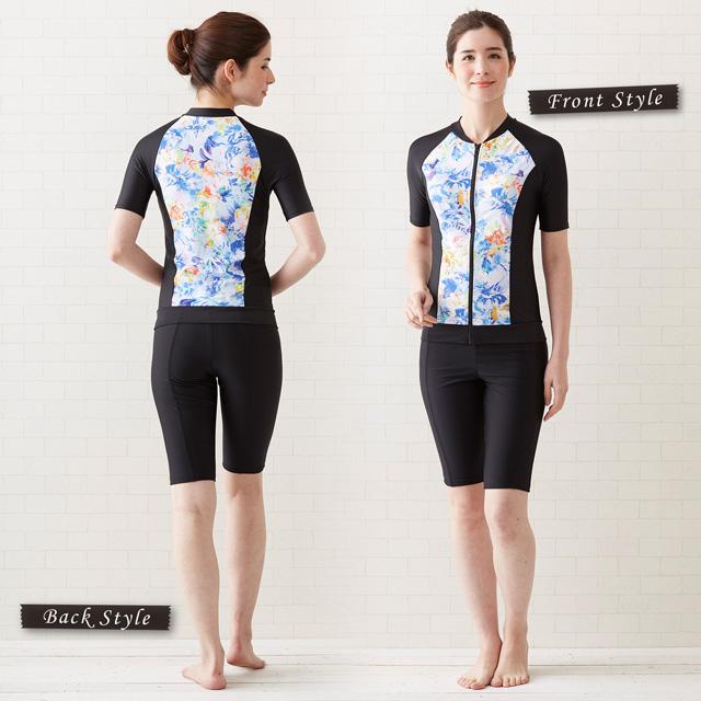 [立即交納]翻能選的健身游泳衣(上下安排/短袖和5分長裹)/分離健身圖片
