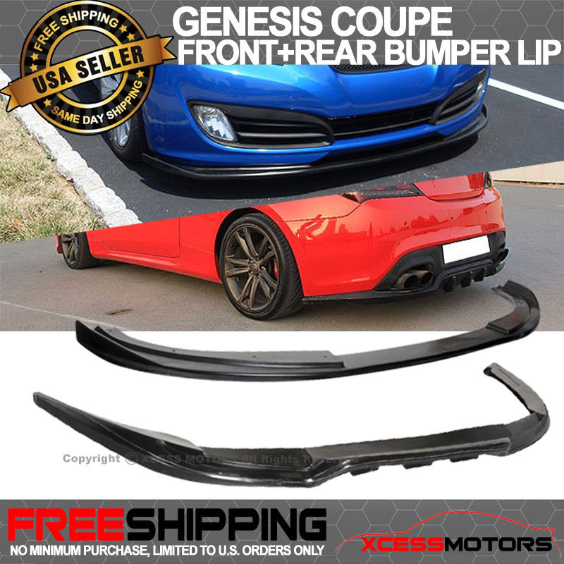 For 10-12 Hyundai Genesis Coupe Urethane Front Rear Bumper Lip Spoiler
