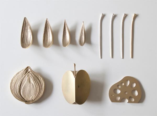 在蓮藕開瓶器graf圖表蔬菜瓶漂亮的開啟工具蔬菜黃銅禮物蓮藕圖片
