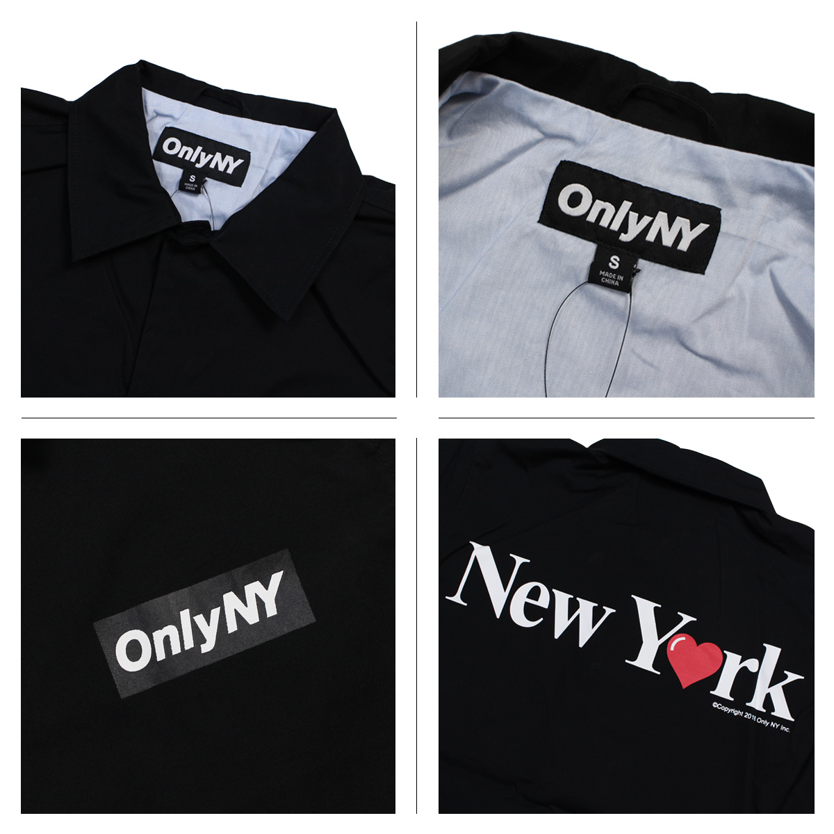 Only Ny New York Jacket Coach Cotton Men Outer Love