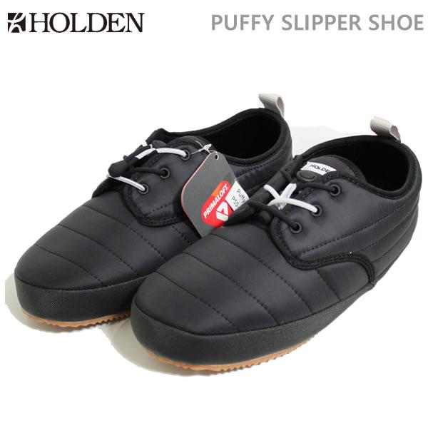 f2680d18953 ホールデン HOLDEN PUFFY SLIPPER SHOE ブラック(18-19 2019)シューズ·靴 C1  w31  ホールデン日本正規品