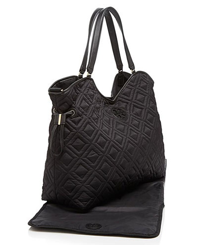Tory Burch Bag Quilted Slouchy Diaper Black Quilting Slawter Bags