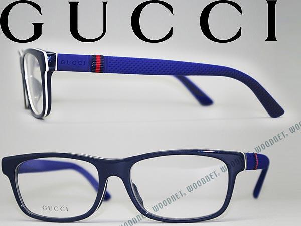 Gucci 0042OA 002 Havana Transparent Eyeglasses Glasses