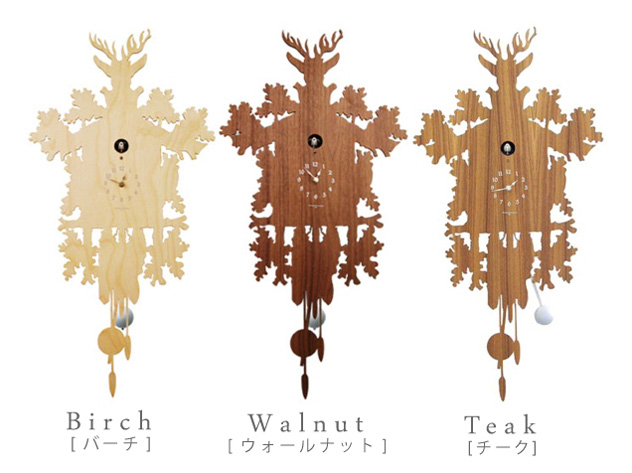 [木材] 布谷鸟钟的森林和厨师森林木布谷鸟钟 diamantini & 尼