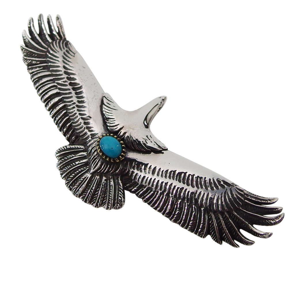 イーグルペンダント(5)ターコイズ (メイン)・シルバー925 銀 ・ペンダント・フェザー・鳥・動物・ネイティブジュエリー・天然石・ネックレス バレンタイン 2019 送料無料 おしゃれ