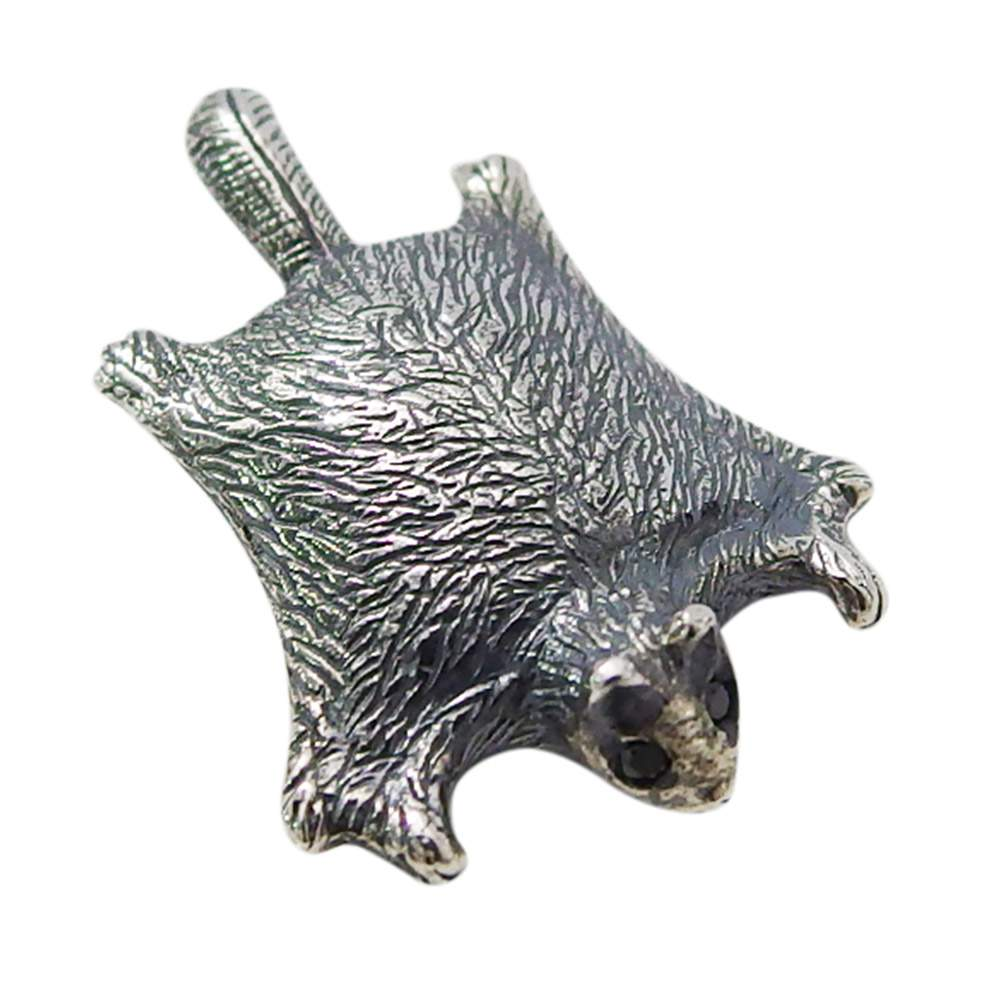 モモンガのペンダント(1)BCZ(メイン)シルバー925 銀 ペンダント ネックレス メンズ レディース  モモンガ 動物バレンタイン 2019  おしゃれ