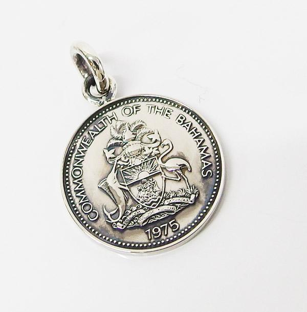 メンズ 南米 (4) 本物のバハマのコインペンダント レディース ネックレス 硬貨 aft