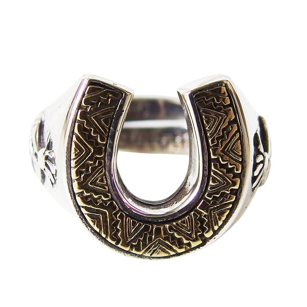ココペリ good vibrations(GV)ココペリのホースシューリングSV+Bフリーサイズ17号 メイン シルバー925 銀 ネイティブ 馬蹄 蹄鉄 指輪 HORSESHOE ホースシュー 指輪 リング goodvibrations 送料無料 おしゃれ