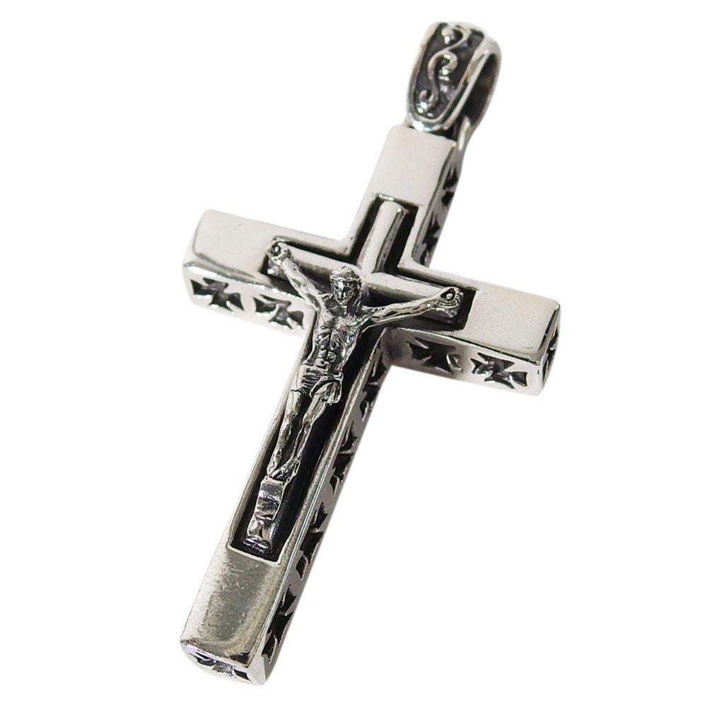 ビッグロザリオ ・シルバー925 ペンダント十字架銀ペンダントトップ重量あり ネックレス メンズ レディース 十字架 ネックレス ペンダント クロスバレンタイン 2019 送料無料 おしゃれ