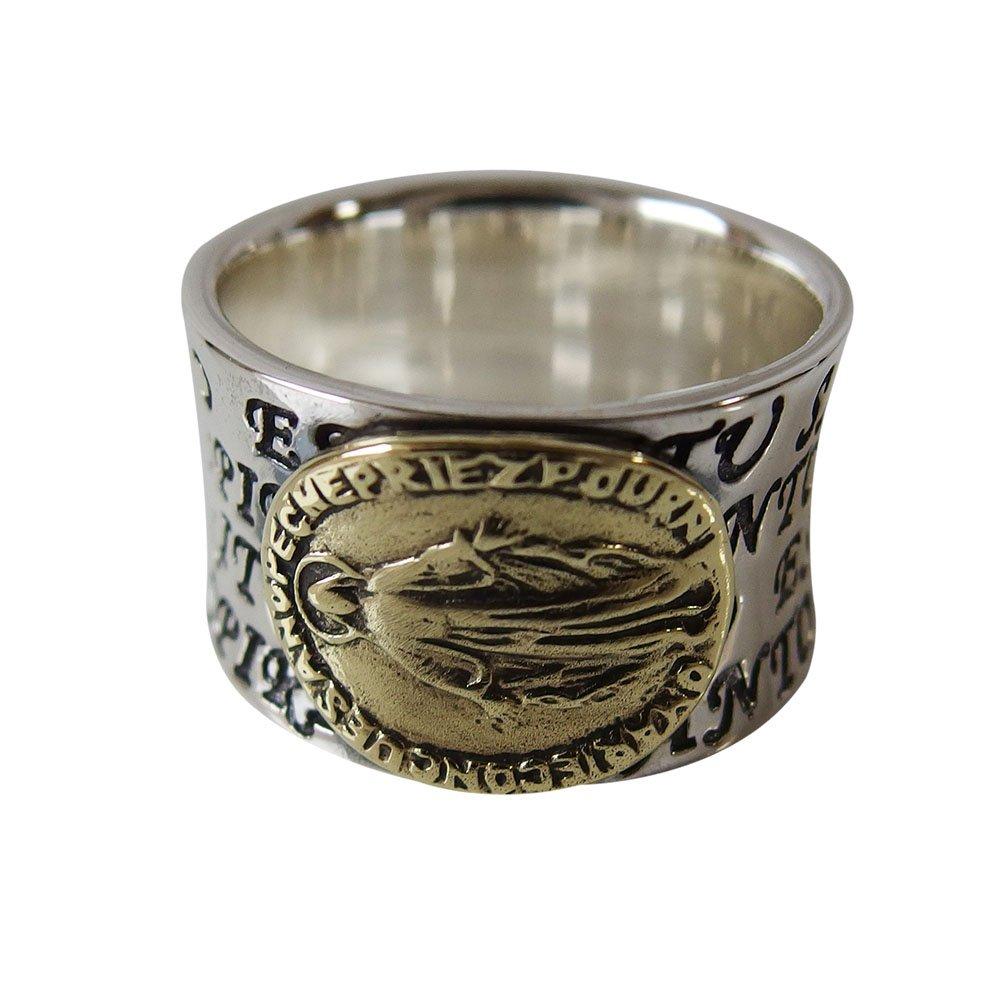 マリアの指輪(3)SV+G15号 16号 17号 18号 19号 20号 21号 22号 23号 25号 シルバー メイン 銀リング 指輪 シルバー925 メンズ マリア リング 指輪 リング マリア 送料無料 おしゃれ